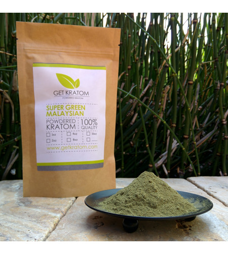 1 kilogram (35.27 oz) Super Green Malaysian Kratom
